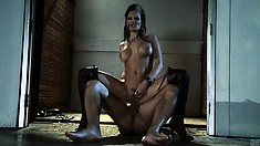 Yummy smooth cum bucket juices her teasing clam with a long dick