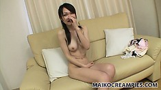Chihiro, a skinny Asian milf with a hot slim body, has desires and needs to satisfy