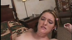 Nikki gets her man to blow his big rod and pound her wet pussy