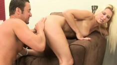 Big-breasted girl Devon Lee gets her soaked pussy destroyed by black stud